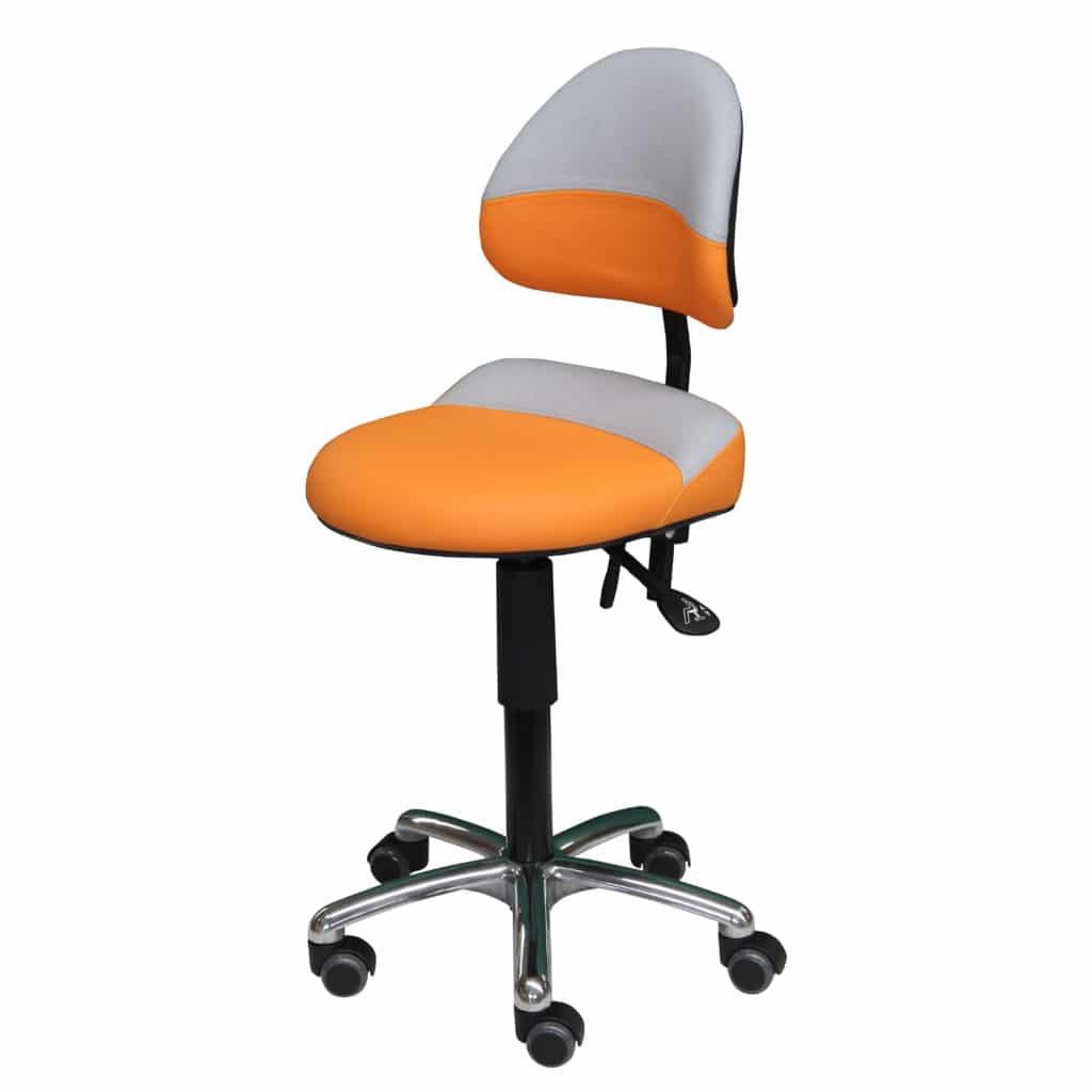 AURE-orange-gris-IMG_0178-carrée-1024x1024 Assis-debout AURE polyvalent avec excellent maintien lombaire