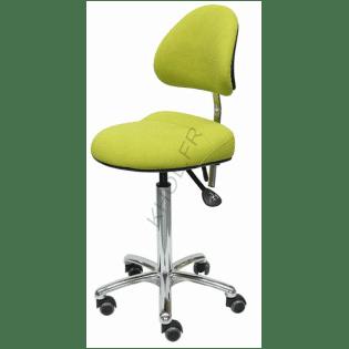 Siège assis et assis-debout ergonomique AURE II de KHOL sur roulettes avec maintien sacro-lombaire