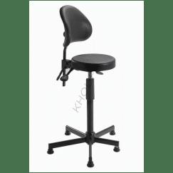 Assis-debout PASSAU de KHOL piètement asymétrique pour positionnement aisé des pieds