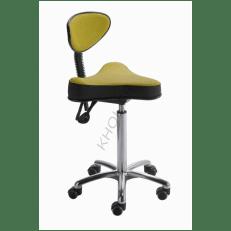 Siège assis-debout STORD assise ergonomique triangle dossier demi-lune mécanisme asynchrone