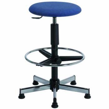 TAVEL-H3-H4-assise-st-tissu-bleu-carrée-350x350 Tabouret TAVEL vérin noir et piètement acier chromé