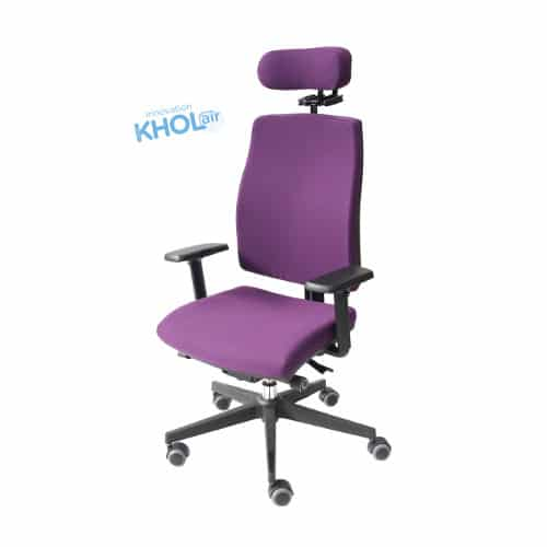"NANTUCKET-FAUTEUIL-BUREAU-VIOLET-IMG_8029-format-carré-site-KHOL-1 Ergonoma Journal : ""SIEGES KHOL innovates and presents its KHOL AIR TECHNOLOGY"""