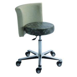 Siège confortable et design contemporain SALADIN de KHOL avec réglage de la hauteur d'assise par vérin chromé