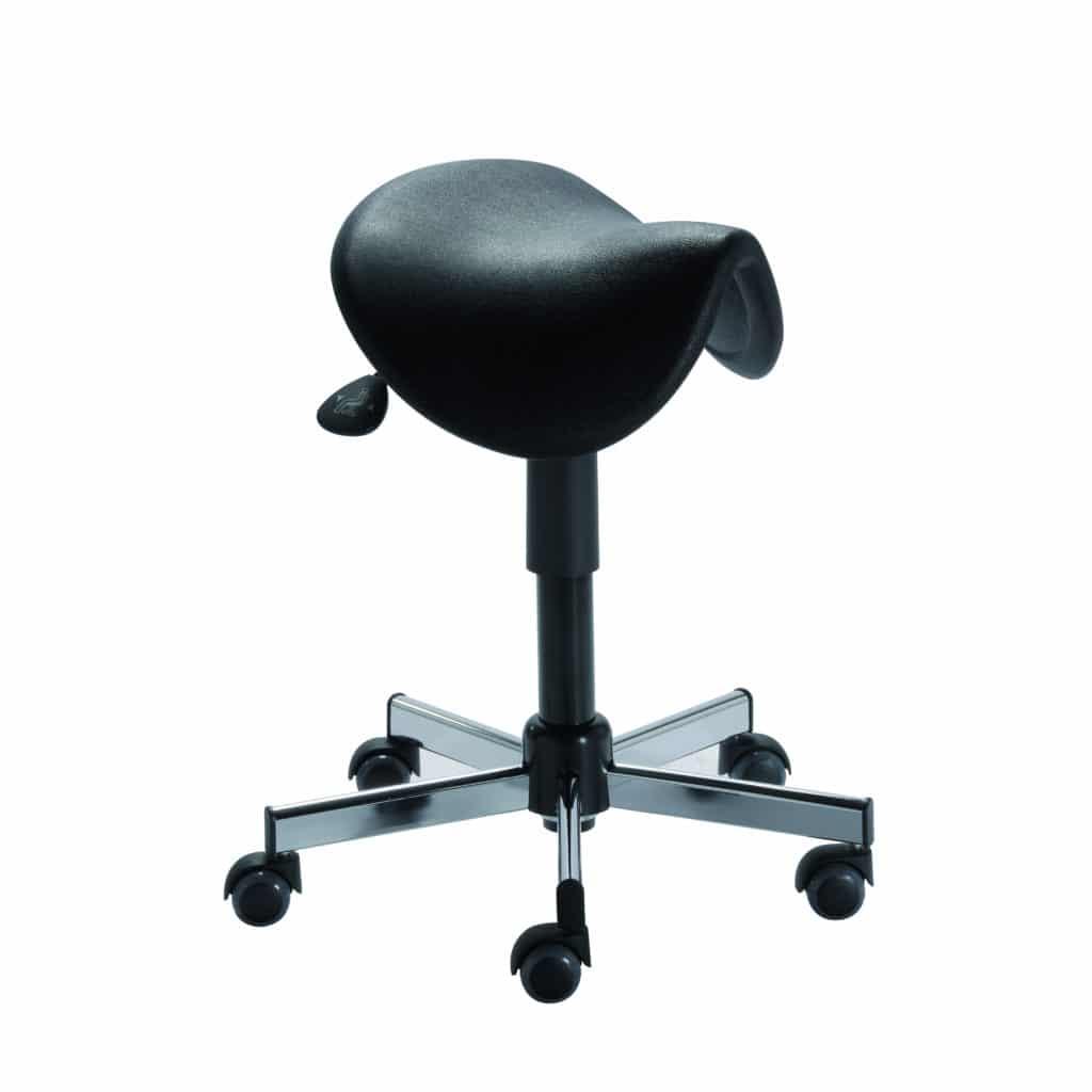 Tabouret selle portland assise polyur thane noir les - Tabouret ergonomique selle de cheval ...