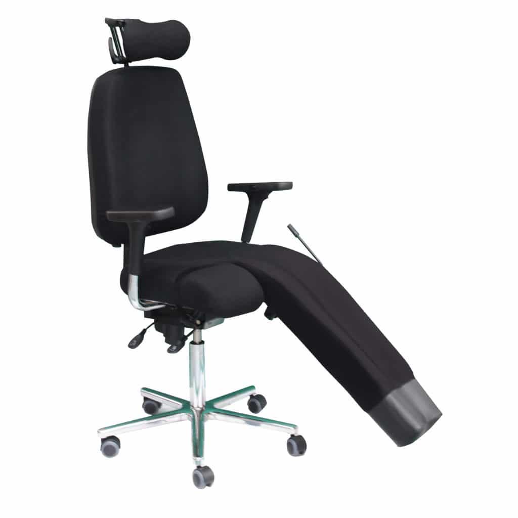 fauteuil médical avec jambière