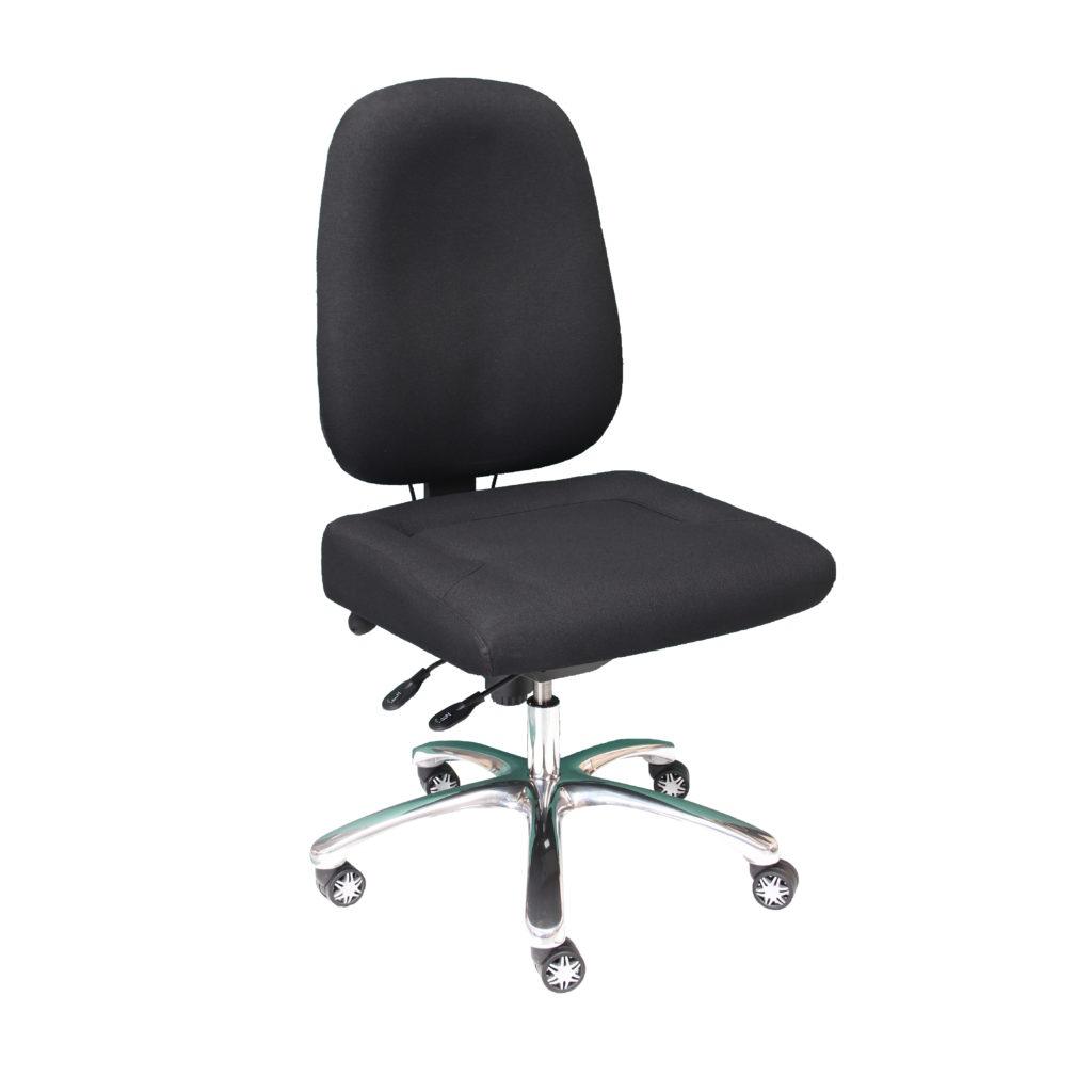 Siège de bureau avec assise large