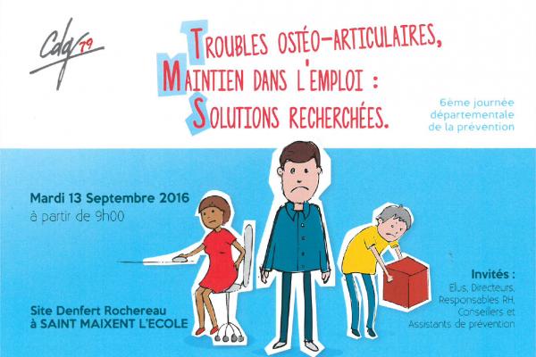 Affiche-600x400 TMS ou Troubles musculosquelettiques : SIEGES KHOL présents à la 6ème journée départementale de la prévention des TMS du département des Deux Sèvres