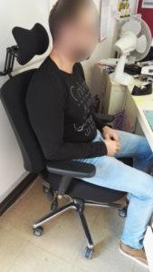 Wilfrid-B-sur-son-fauteuil-PERINEOS-5-de-KHOL-169x300 Le parcours de Wilfrid B. atteint d'une névralgie pudendale, désormais bien assis sur le fauteuil KHOL PERINEOS 5